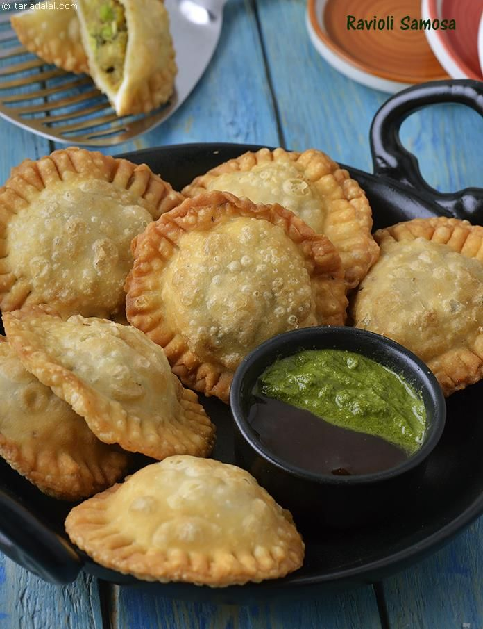 Ravioli Samosa, Deep Fried Indian Starter (vegan italian appetizers)