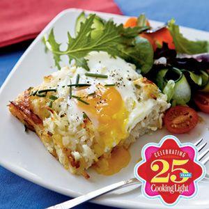 25 Best Vegetarian Recipes | Rösti Casserole with Baked Eggs | CookingLight.com