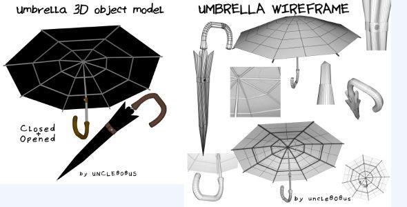 Umbrella 3D object model by uncle808us Product Description