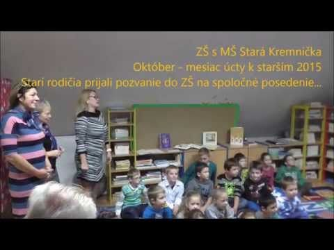 Starí rodičia v ZŠ Stará Kremnička - YouTube