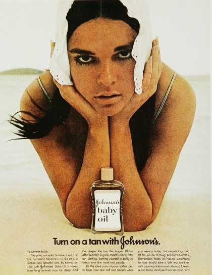 """""""Baby Oil, it makes those long summer rays tan deep."""" Late 70's and early 80's I was getting my tan on this way."""