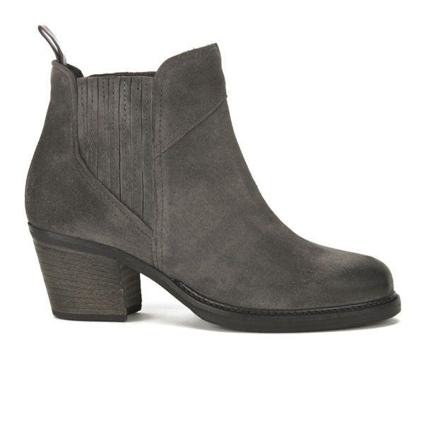 BOSS Orange Women's Ivette Suede Heeled Chelsea Boots - Charcoal