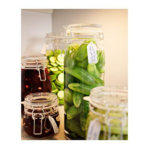 КОРКЕН Банка с крышкой IKEA Плотно закрывающаяся крышка позволяет хранить джемы и желе домашнего приготовления.