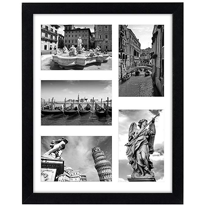 Amazon Com Americanflat 11x14 Black Picture Collage Frame Displays Five 4x6 Pictures With Mat Or One 11x14 Picture Without M In 2020 Collage Picture Frames