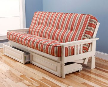 monterey antique white futon frame with futon mattress in coral bay lacquer wit transitional furniture