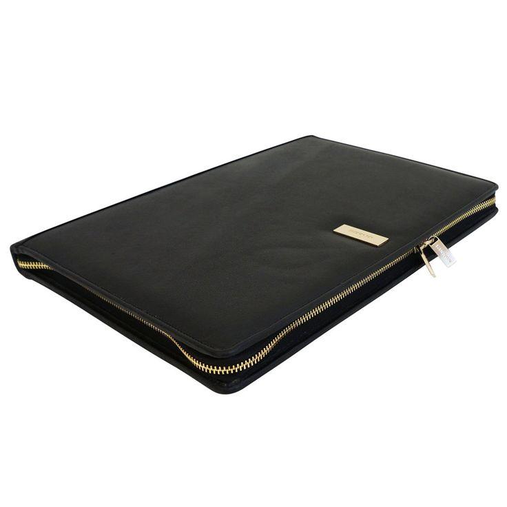 Kinnon The Hudson Folio: Black - Kinnon The Hudson Folio: Elephant Grey - $249.00 #tabletcover #ipadcover #leathertabletcover #ipadsleeve #tabletsleeve #leatherfolio #folio