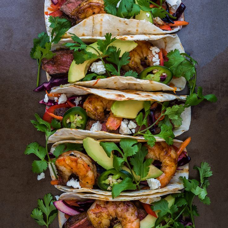 Surf and Turf Tacos - Shrimp and Steak Taco Recipe | FWx