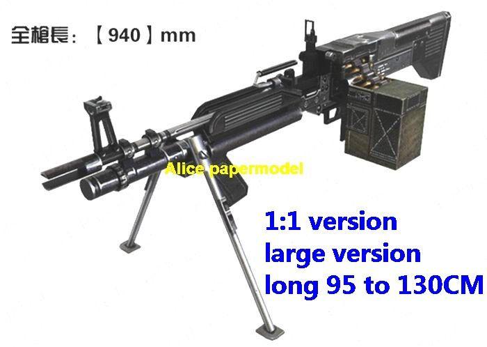 M60 For Sale >> Alice Papermodel 1 1 Us M60 M 60 E4 Machine Gun Pistol