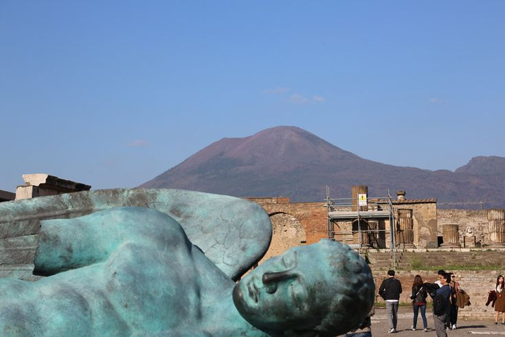 Mt Vesuvius from Pompeii Italy for Kids blog at www.twoinarowblog.com