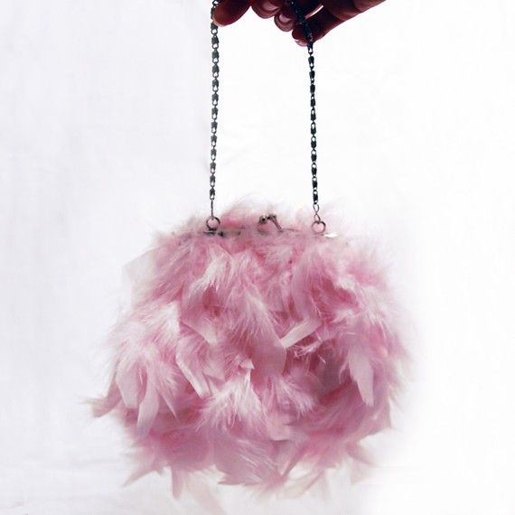 French Feathers Evening Bag