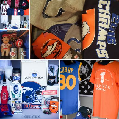 The only sports subscription box that curates & offers every TEAM from the NFL, NBA, NHL & MLB!
