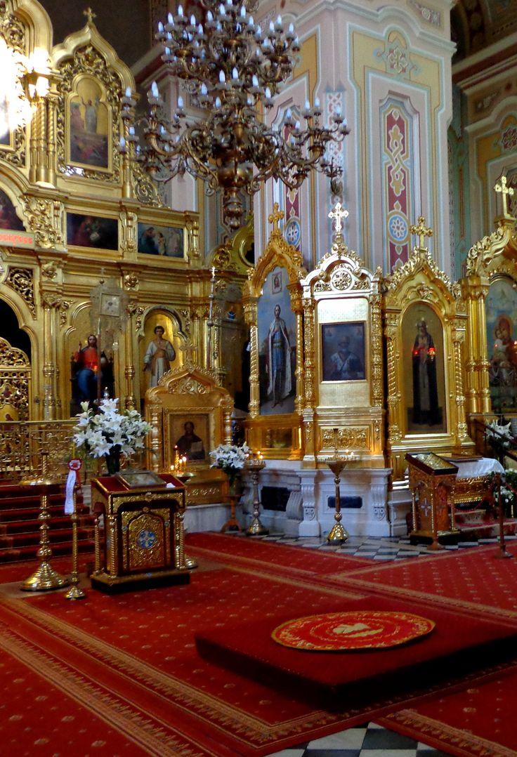 Interior de la iglesia ortodoxa rusa en Varsovia Praga 2015, Polonia fotografía por cityhopper2