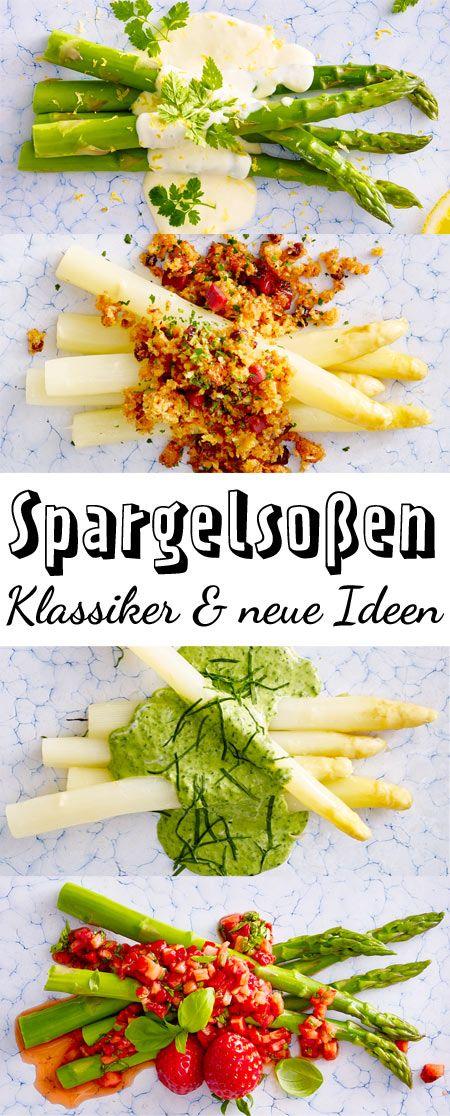 Zu #Spargel schmeckt nicht nur #Hollandaise ! Hier gibt's #Rezepte für Spargelsoßen-Klassiker und neue Ideen!