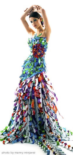 Amazing paper fashion! Just one of those fun things to look at but not sure what to do with it. lol.