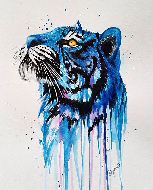 Gorgeous tiger watercolor