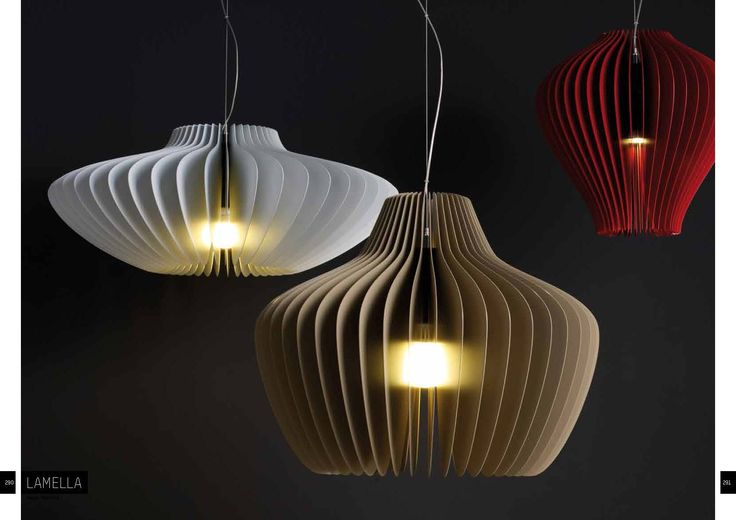 Moltoluce LAMELLA pendants www.ladgroup.com.au