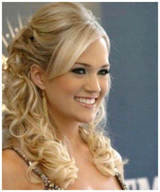 Wedding Hair Up With Veil: Half Up Half Down Wedding Hairstyles With Tiara And Veil