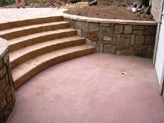 I like how the steps are incorporated into the retaining wall.