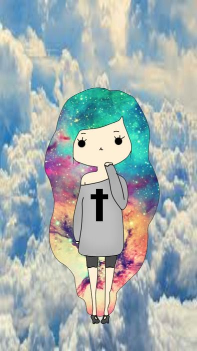 wallpapers for phone - galaxy hipster girl- iphone
