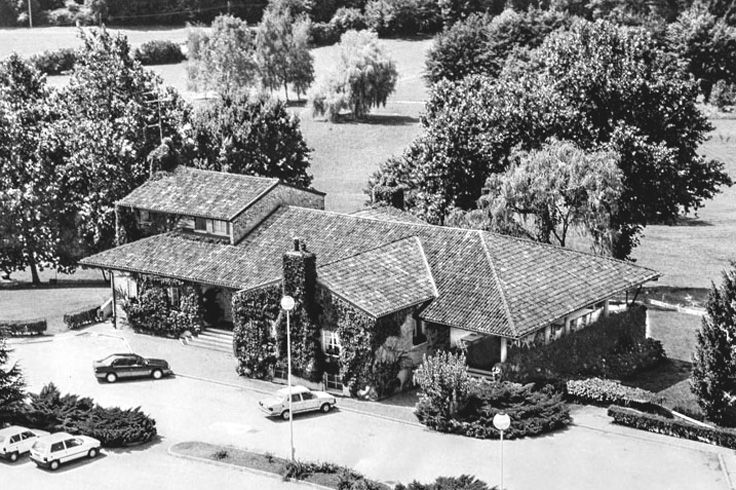 """Golf Club Udine's Club House in 1972. Built in a perfect """"English Style"""", recently renewed in 2013. Fagagna - Udine, Italy."""