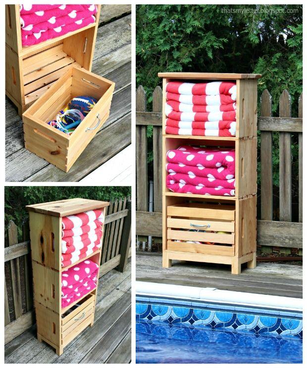 Pool Towel Sign With Hooks: Best 25+ Pool Towel Storage Ideas On Pinterest