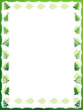 This free, printable, winter holiday border features green Christmas trees. Free to download and print.