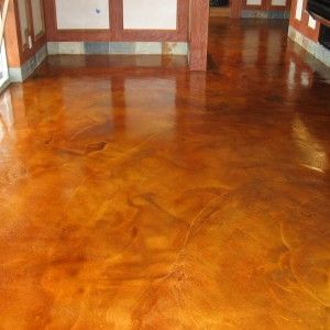 Living Room, How To Acid Stain Concrete With Good Idea Picture: How To Acid