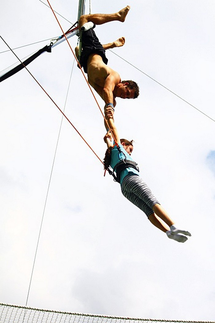 flying trapeze on outdoor rig with   at pali adventures  10 best sky high adventures images on pinterest   sky high      rh   pinterest
