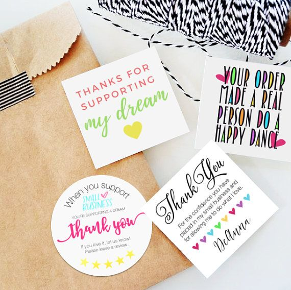 The gratitude bundle 50 stickers small shop packaging stickers