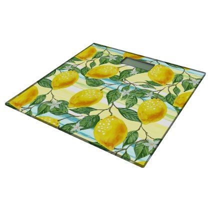 #girly - #Cute Hip Tropical Summer Lemon Fruit Pattern Bathroom Scale