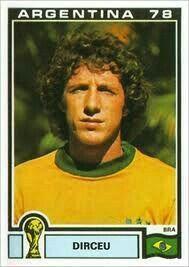 Dirceu of Brazil. 1978 World Cup Finals card.