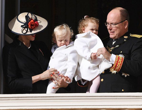 Prince Albert II, Princess Charlene, Prince Jacques and Princess Gabriella.   19-11-2016