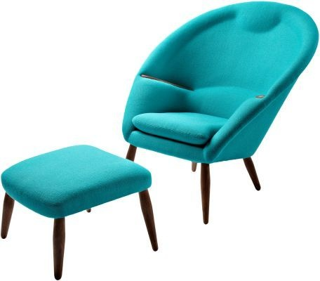 Oda Chair & Ottoman. By Nanna Ditzel. >> This set is awesome and perfect for my living room, have to go and hunt it down!