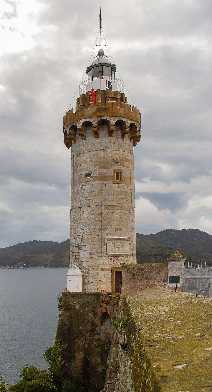 Faro Portoferraio, Isla Elba. Italia