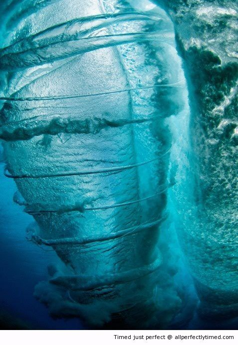 An amazing underwater tornado spotted - I would choke on my snorkel if I saw this.