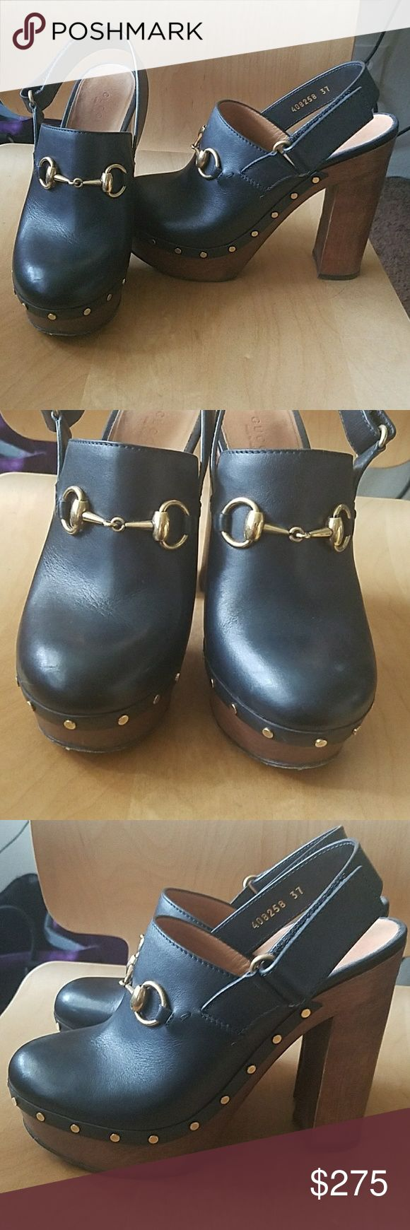 Gucci Amstel horsebit high heel clogs Gorgeous high heeled Gucci clogs. Alessandro Michele at his finest! Currently selling on Net-a-Porter for $490. A great deal, and in great condition. Gucci Shoes Mules & Clogs