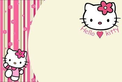 Fazendo a Minha Festa!: Hello Kitty - Kit Completo com molduras para convites, rótulos para guloseimas, lembrancinhas e imagens!