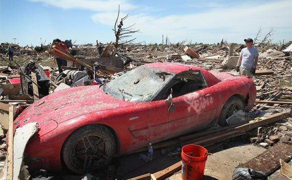 "2002 Corvette Z06 is a True ""Survivor Corvette"" Following Oklahoma Tornado"
