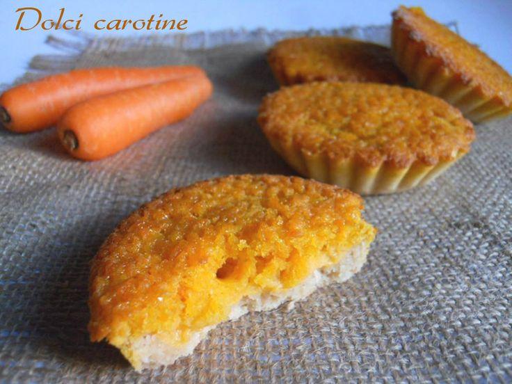 Oggi vi propongo le crostatine dolci carotine: strato friabile di frolla, ripieno cremoso di aranciotta e impasto morbido in superficie. Andranno a ruba!!
