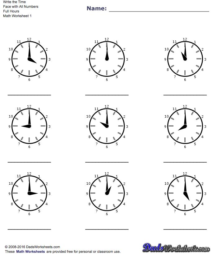 72 best maths images on Pinterest Telling time, Free printable - time worksheets