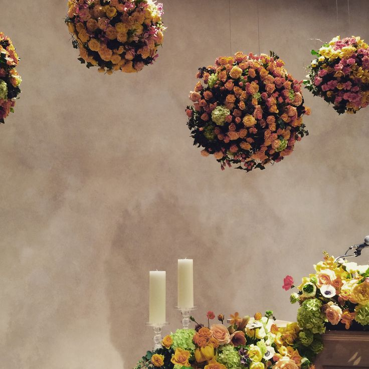 The Raum - Hanging Flower  #flower #party #the_raum #doros