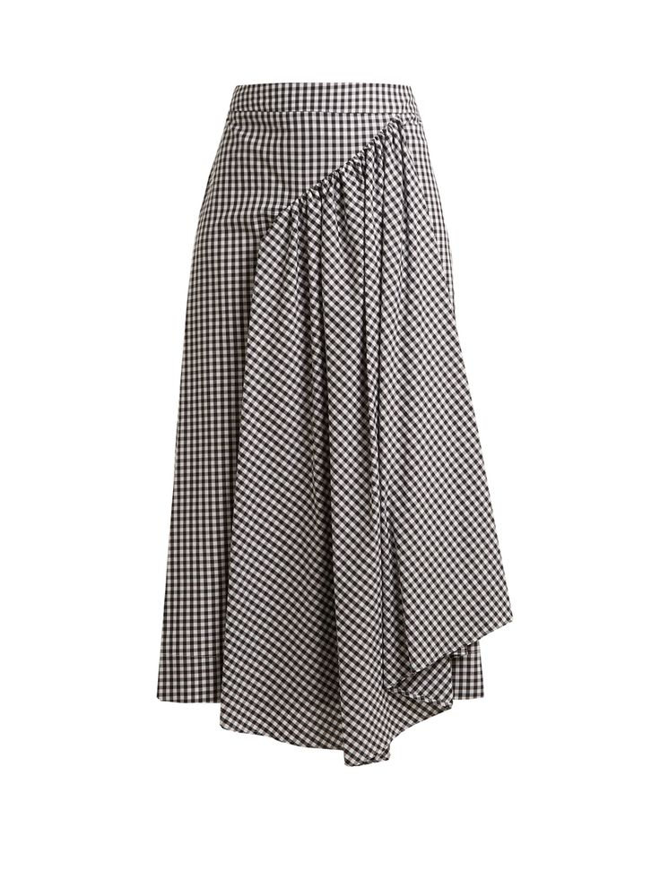 Click here to buy Simone Rocha Pleat-front gingham cotton midi skirt at MATCHESFASHION.COM