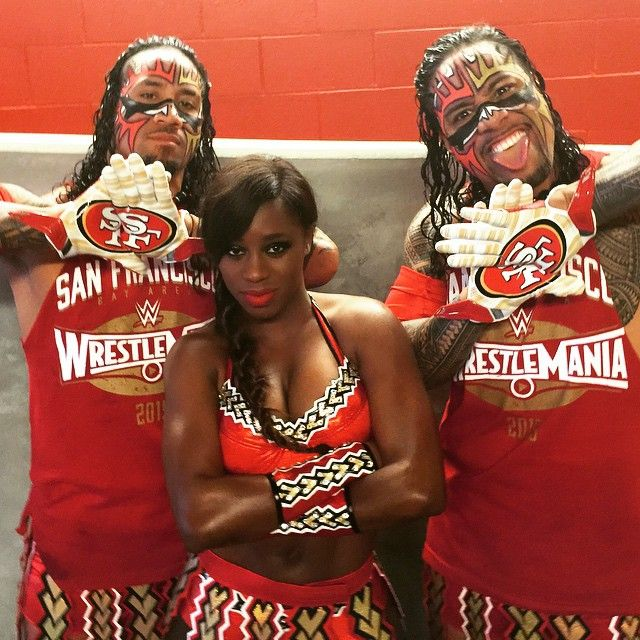 Jimmy, Jey Uso & Naom, i don't like the 49ers, but the usos are some of my favorites