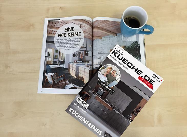 Kuchenmagazin Von Kueche De Aufgeschlagen Mit Kaffeetasse Kuche Versenkbare Steckdose Steckdosen