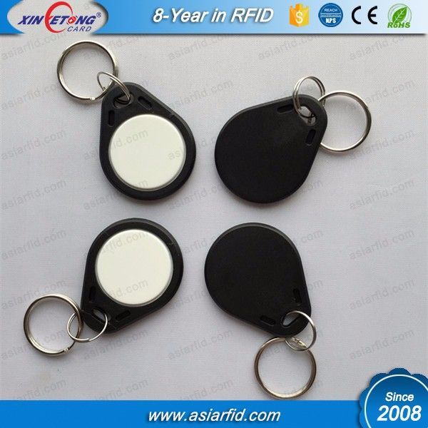 ABS Material Type 1 NDEF Formatted 512 Bytes Topaz512 NFC Key Fobs