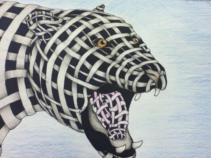 Line Drawing Jaguar : Best contour line images drawings cross