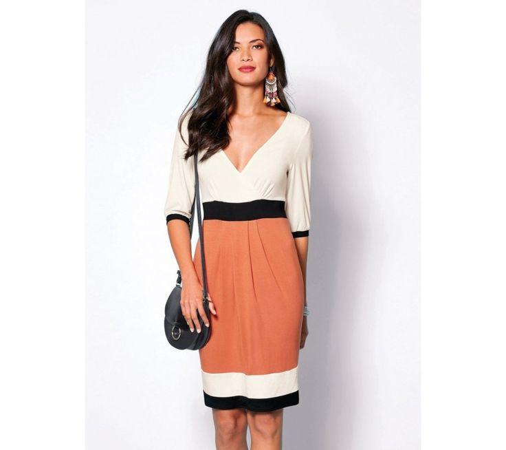 Trojfarebné šaty s krátkymi rukávmi | modino.sk #ModinoSK #modino_sk #modino_style #style #fashion #bestseller #dress