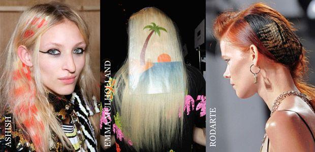Yaratıcılıkta sınır tanımayan markalar ile saç stilistleri 2014 İlkbahar/Yaz sezonunda yepyeni bir trend ile karşımıza çıkıyor: Saç desenleri...