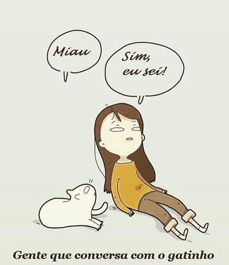 EU CONVERSO! ❤ #filhode4patas  #amoanimais  #gato