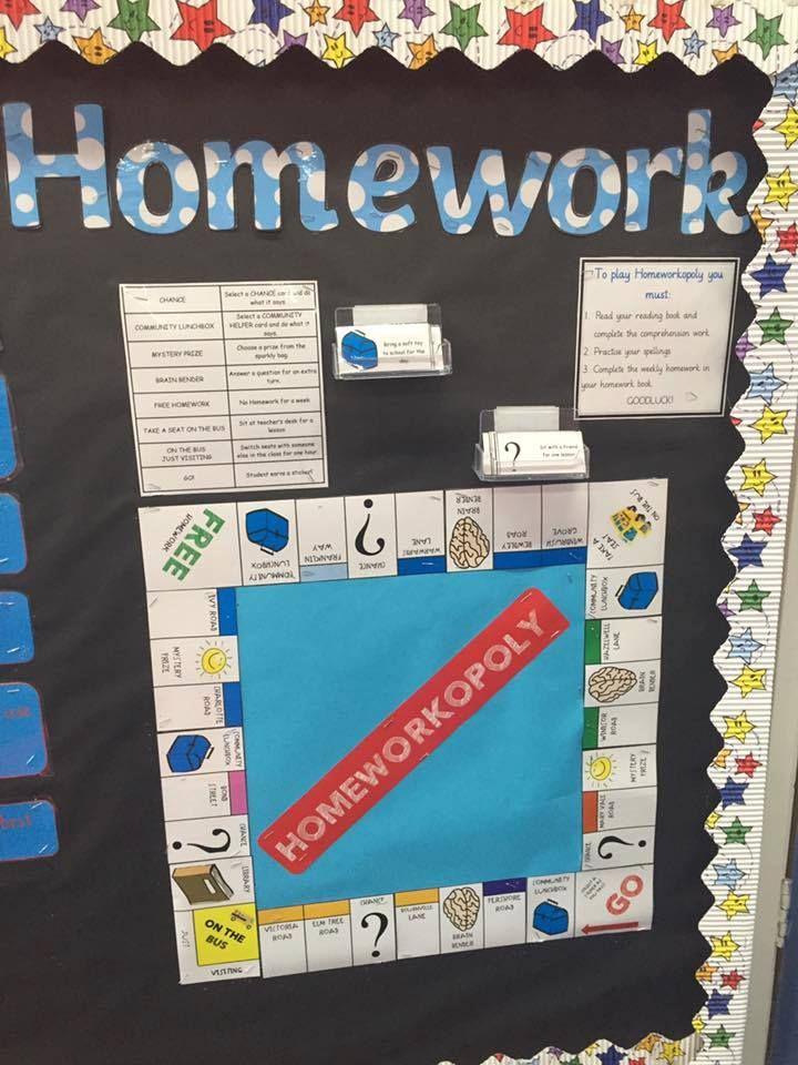 Homeworkopoloy board game display Sara